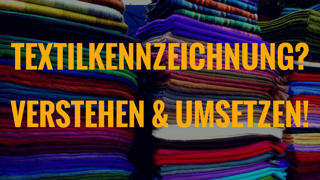 Textilkennzeichnung Amazon FBA